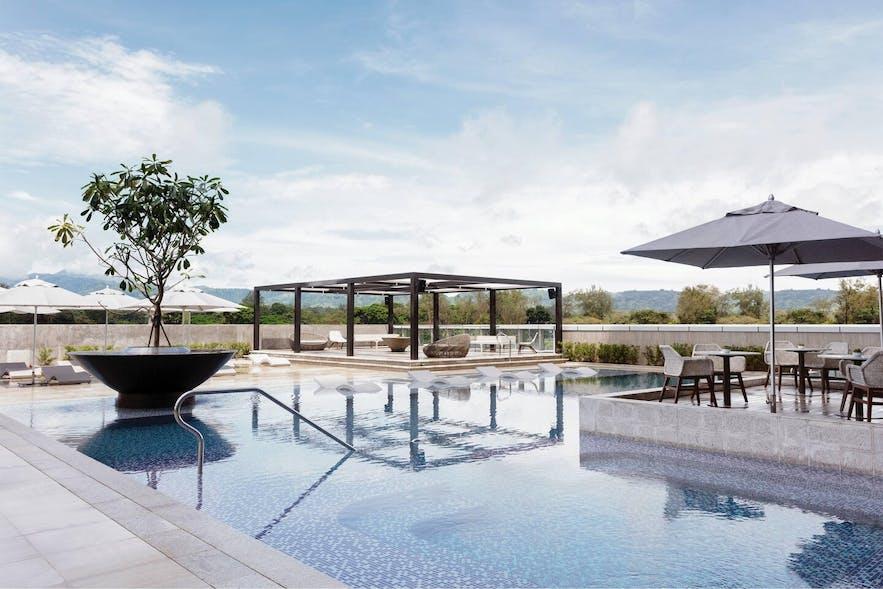 Poolside of Clark Marriott Hotel