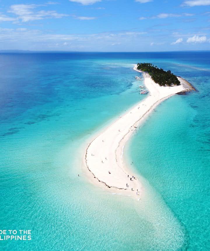 Aerial shot of Kalanggaman Island