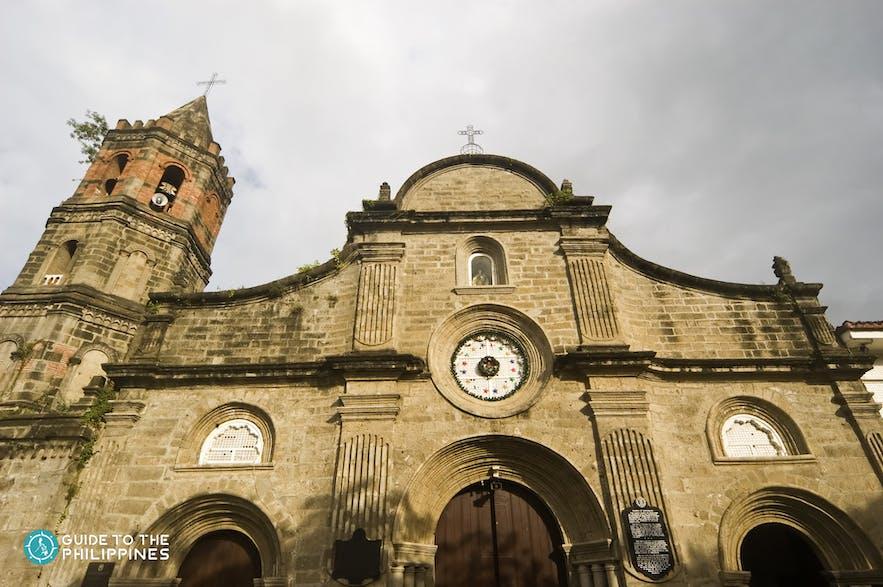 Close-up shot of Barasoain Church