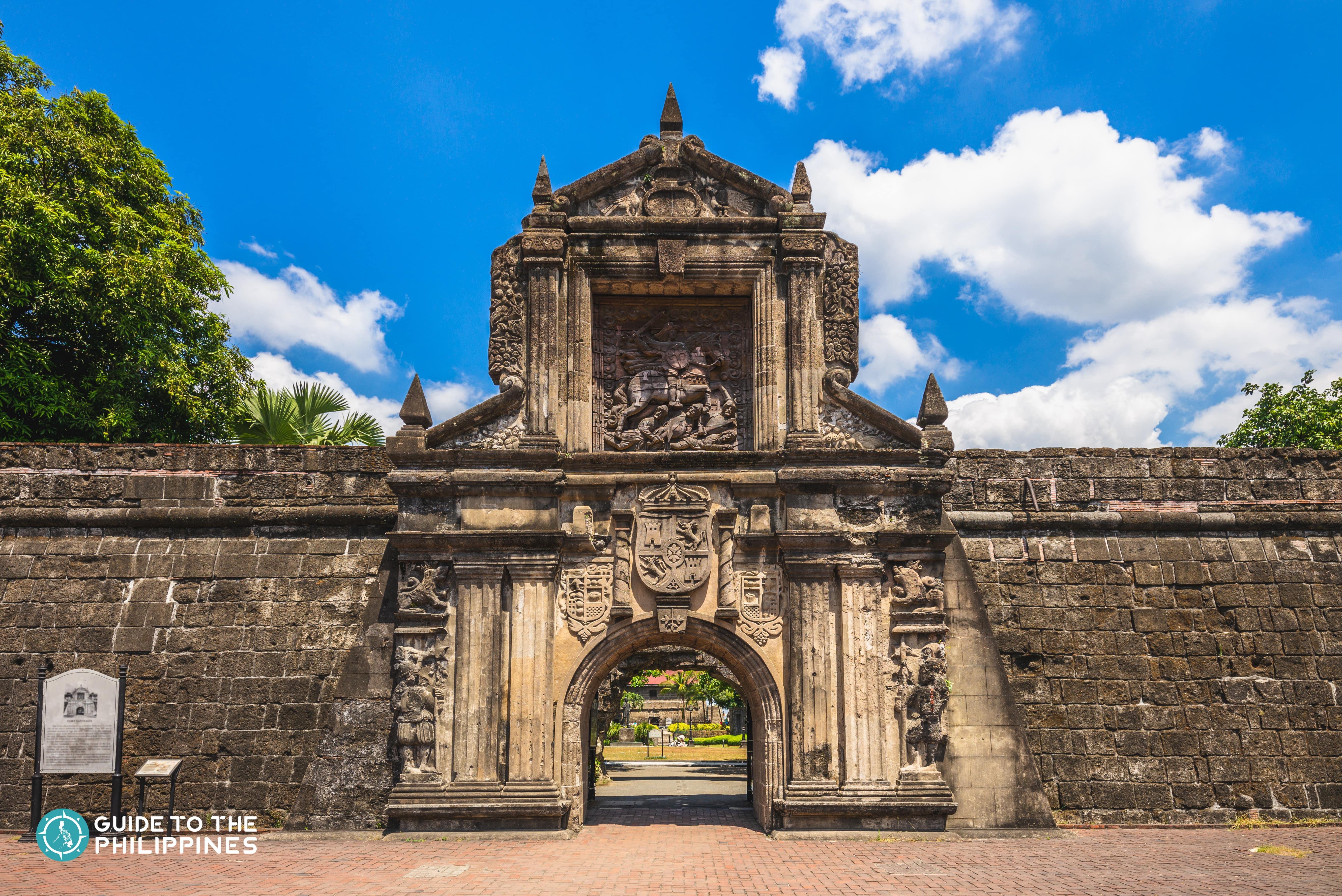 Facade of Fort Santiago inside Intramuros
