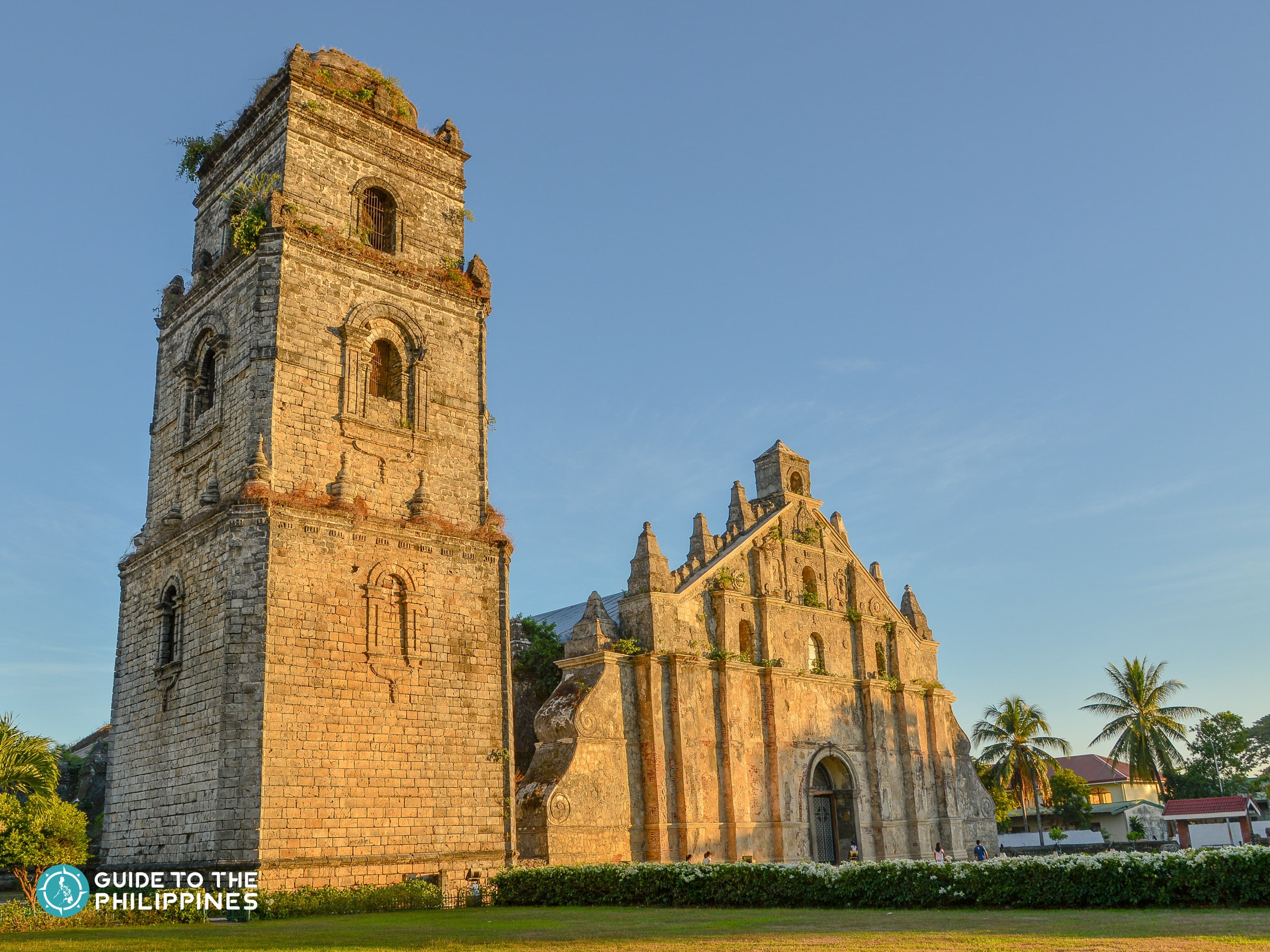 Sunset in Paoay Church in Laoag