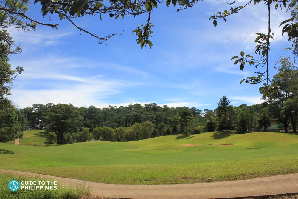 Open field at Camp John Hay in Baguio City