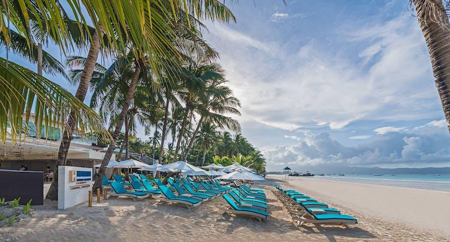 Beachfront of Henann Prime Beach Resort