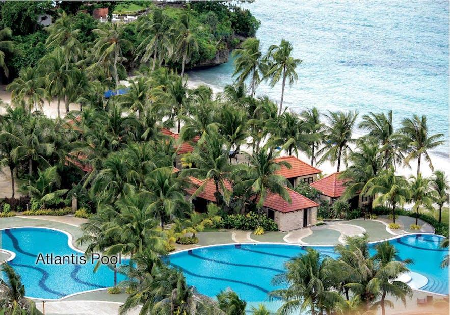 Beachside pool of Fairways & Bluewater Boracay