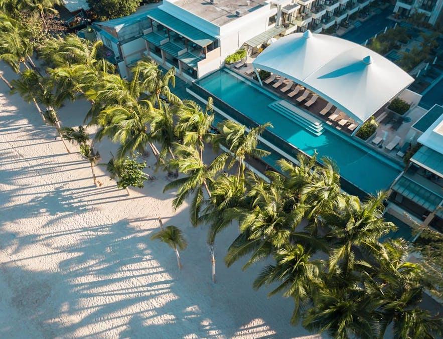 Beachfront of Henann Palm Beach Resort