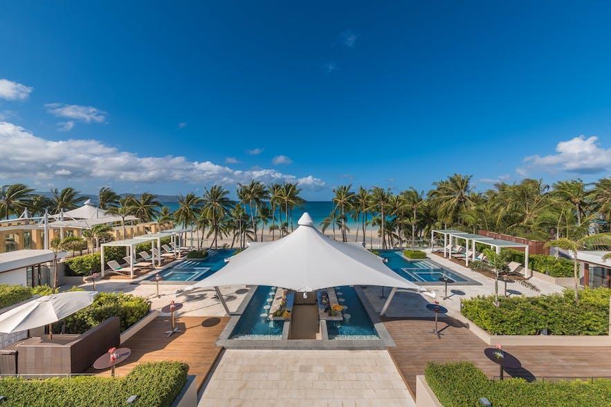 Poolside of Henann Crystal Sands Resort