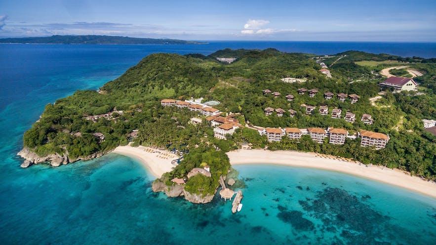 Aerial view of Shangri-la Boracay