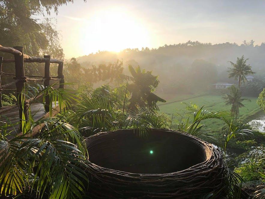 A nest-like seat in Villa Jovita Resort