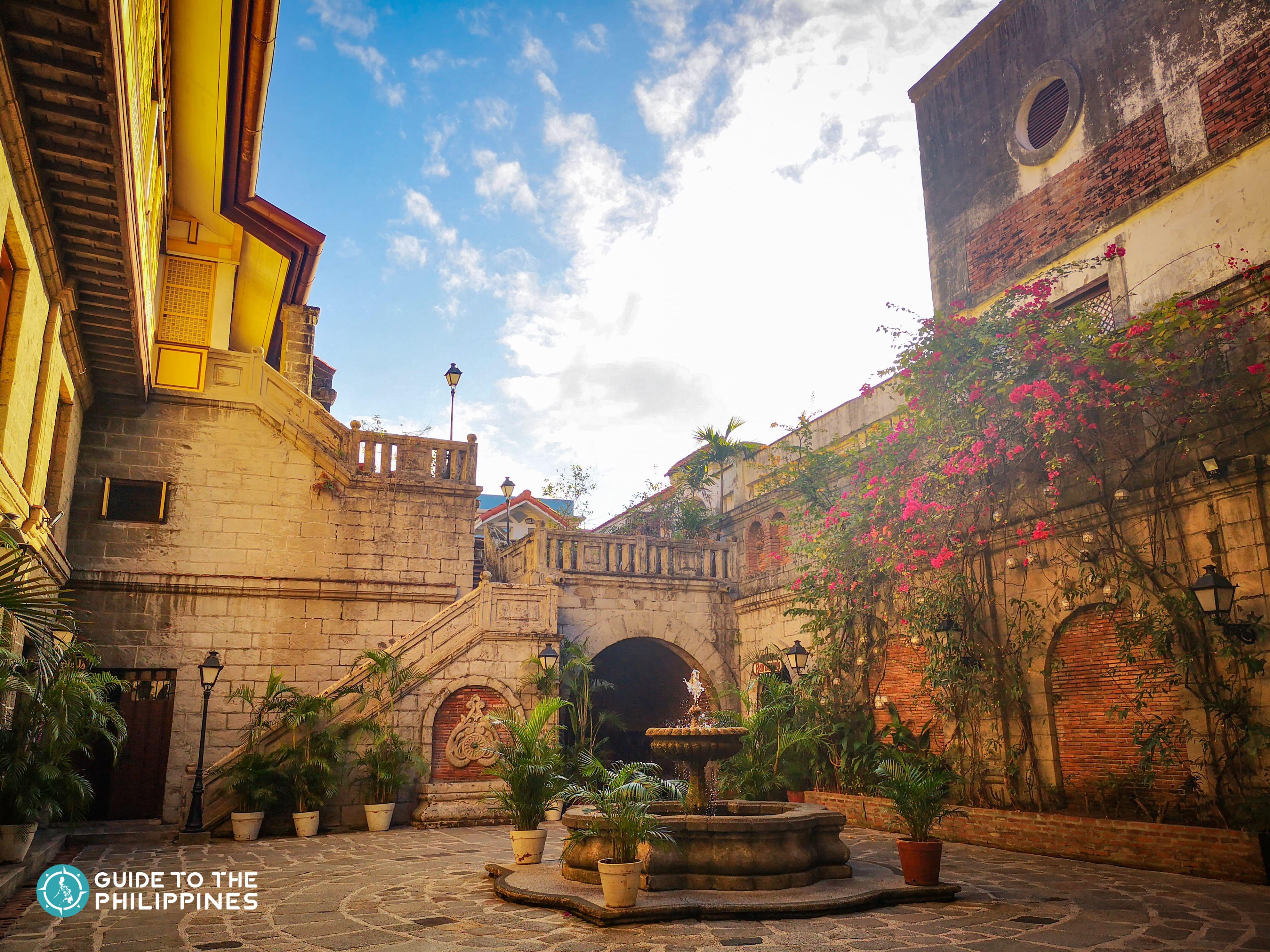 Courtyard at Casa Manila inside Intramuros