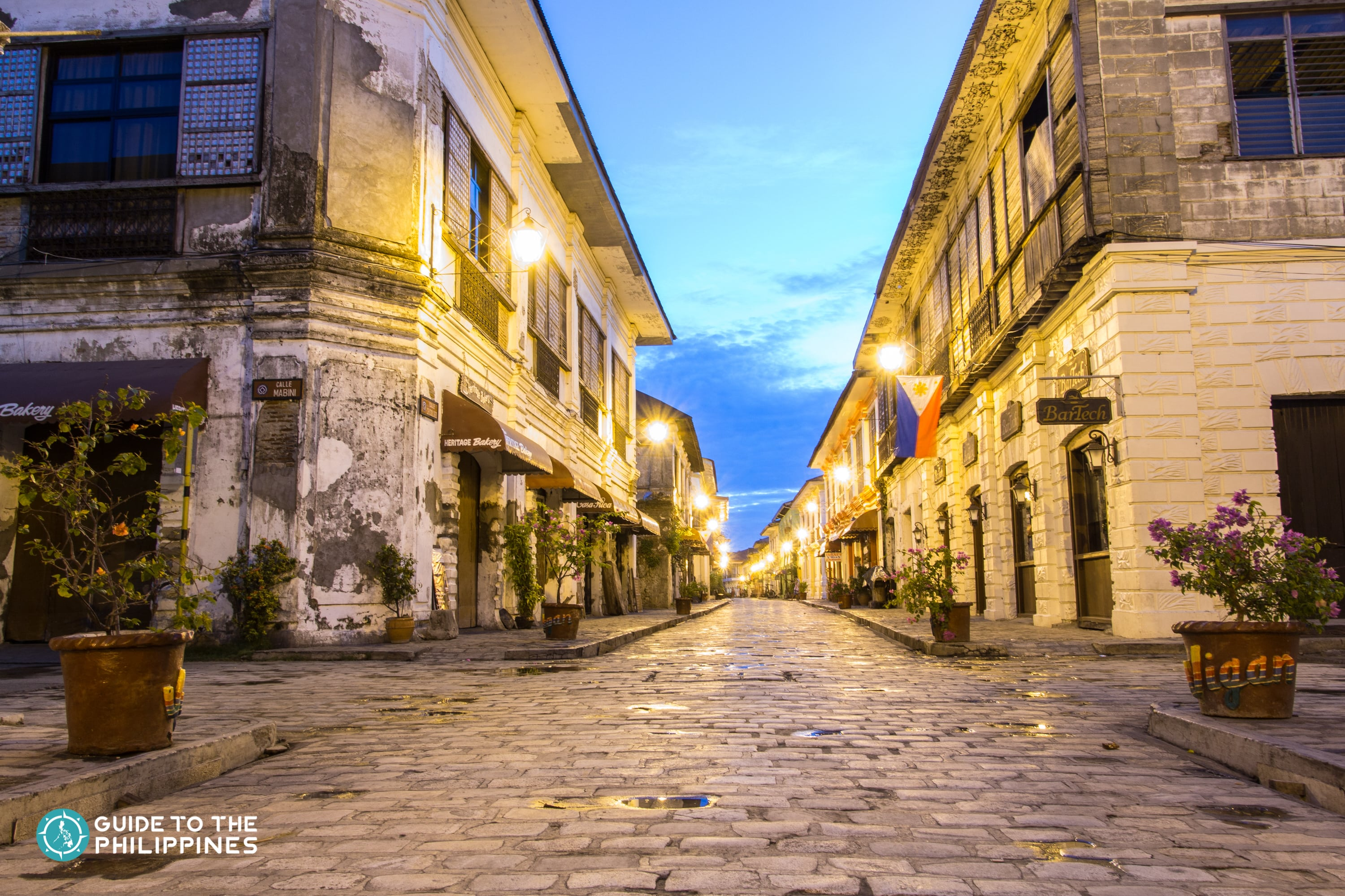 Spanish style streets of Calle Crisologo in Vigan