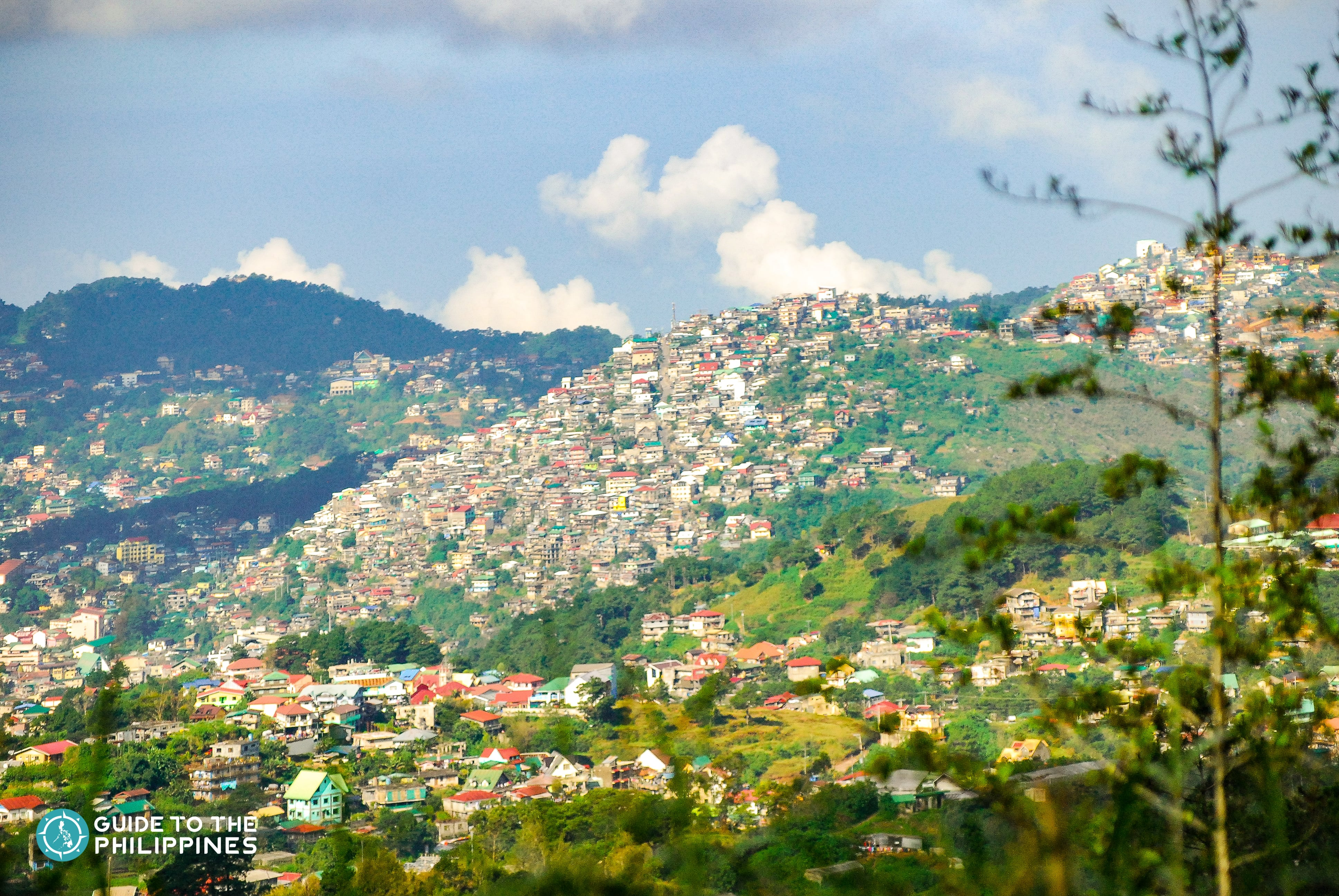 View of Baguio City houses from Mines View Park