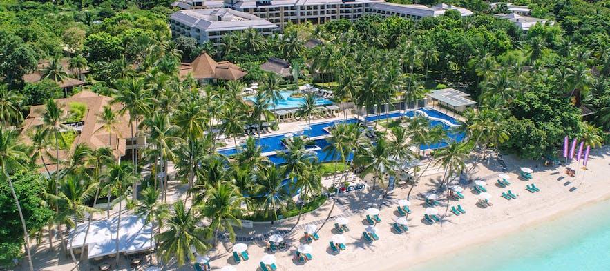 Aerial shot of Henann Resort Alona Beach
