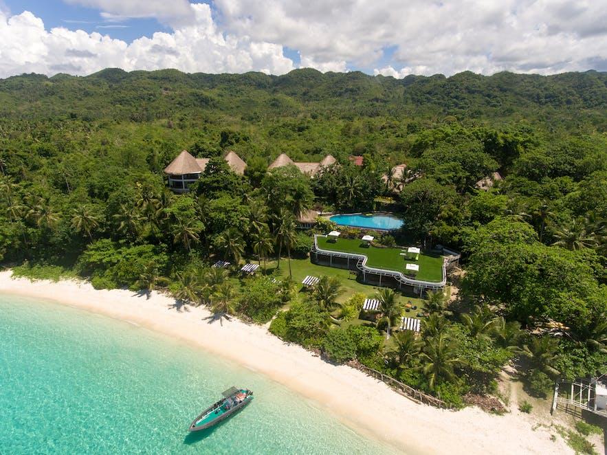 Aerial view of Amun Ini Beach Resort & Spa