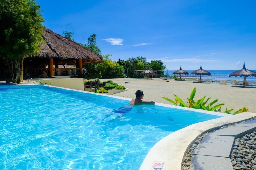 Pool and beachfront of Bluewater Panglao Beach Resort