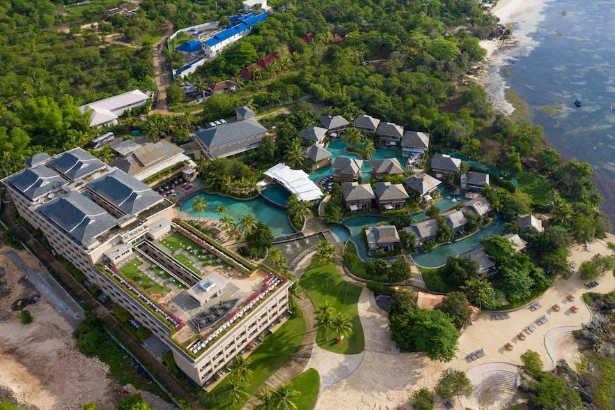 Aerial view of BE Grand Resort Bohol