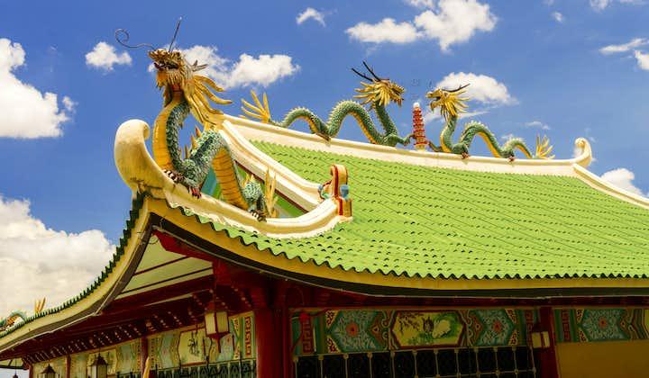 Beautiful roof of Taoist Temple in Cebu