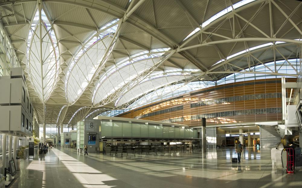 Inside the San Francisco International Airport