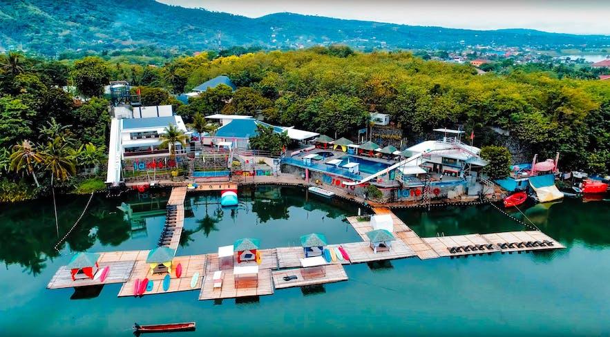 Aerial view of Laresio Lake Resort