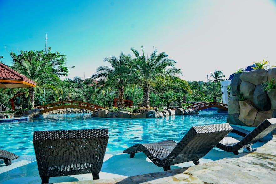 Pool area at Calinisan Beach Resort