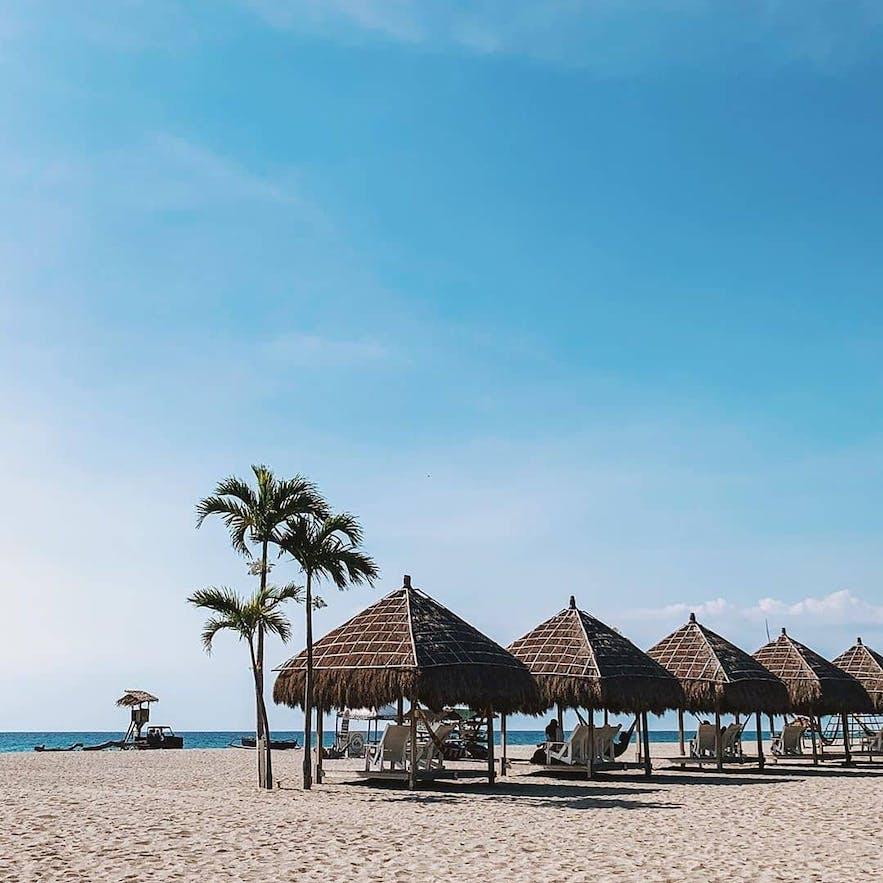 Beach huts in Crystal Beach Resort, Zambales