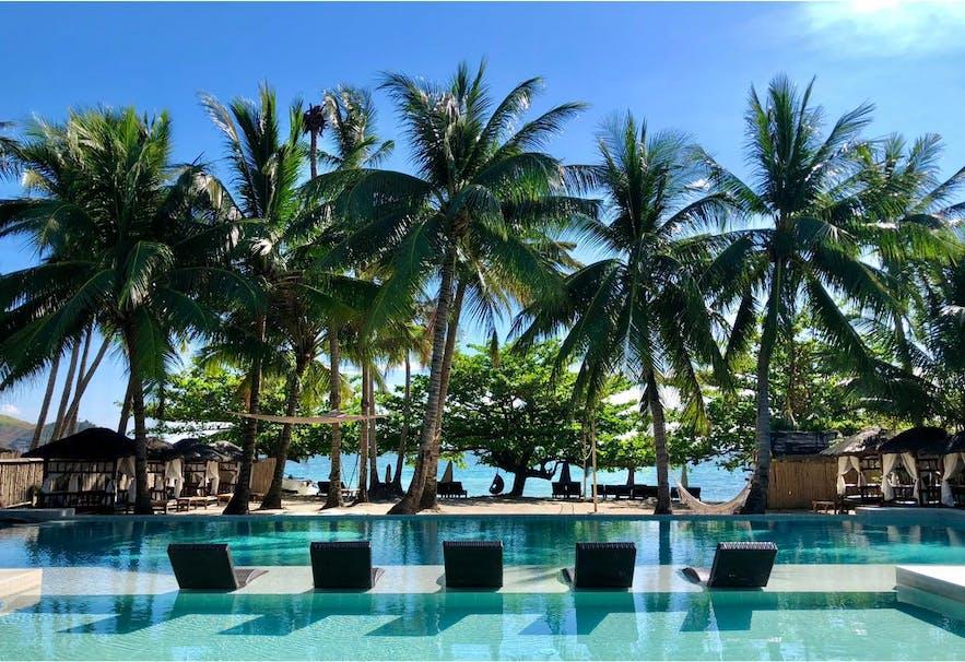 Beachside pool of Masamirey Cove Resort