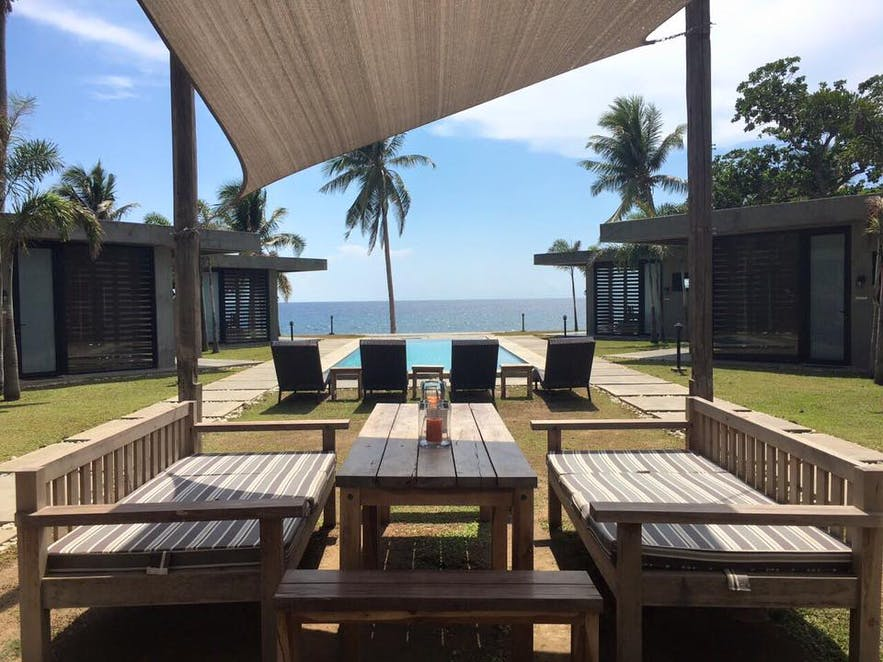 Lounge area at Veue Beach Cabins
