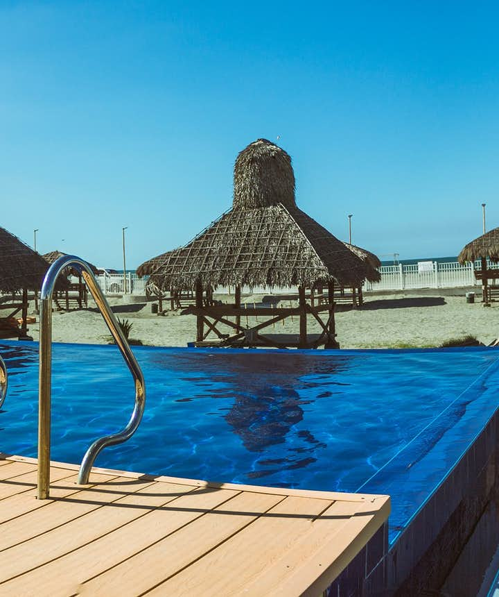 Beachside pool of El Puerto Marina Beach Resort
