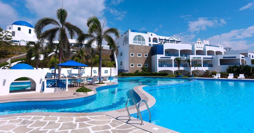 Pool area of Thunderbird Resorts and Casinos Poro Point