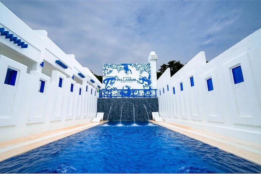 Outdoor pool of The Palladium Hotel