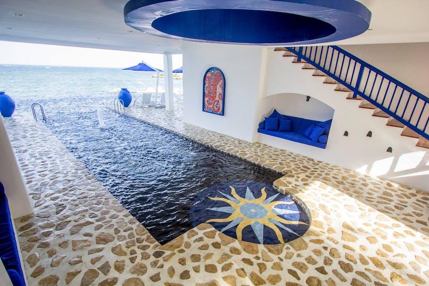 The pool in Balesin Island Club's Mykonos village