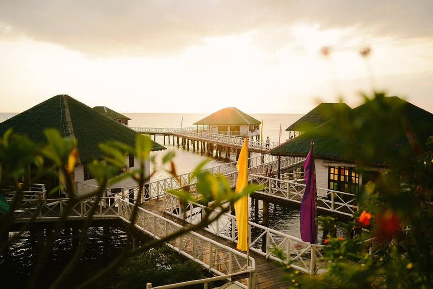 Sunset at Stilts Calatagan Beach Resort