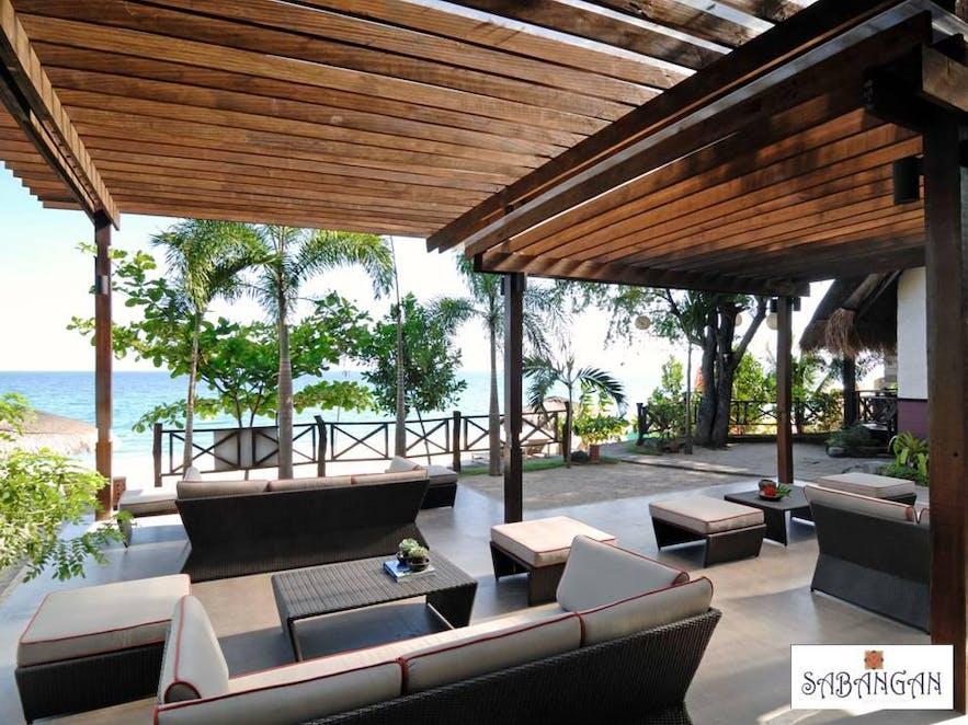 Sabangan Beach Resort's beachside lounge