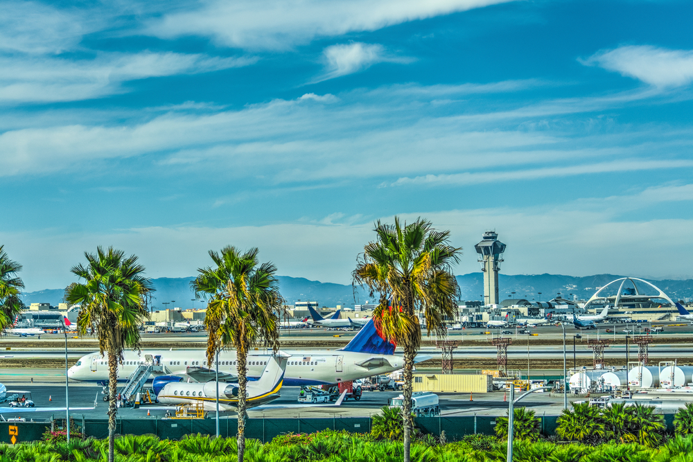 Aircrafts in Los Angeles Airport