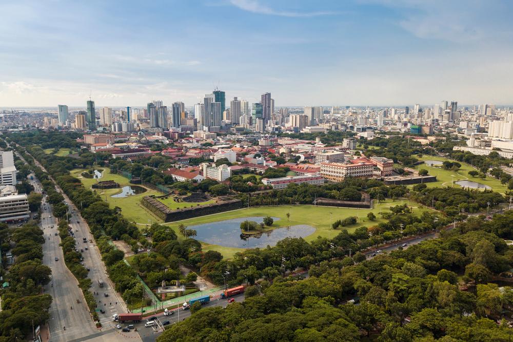 Aerial view of Intramuros in Manila