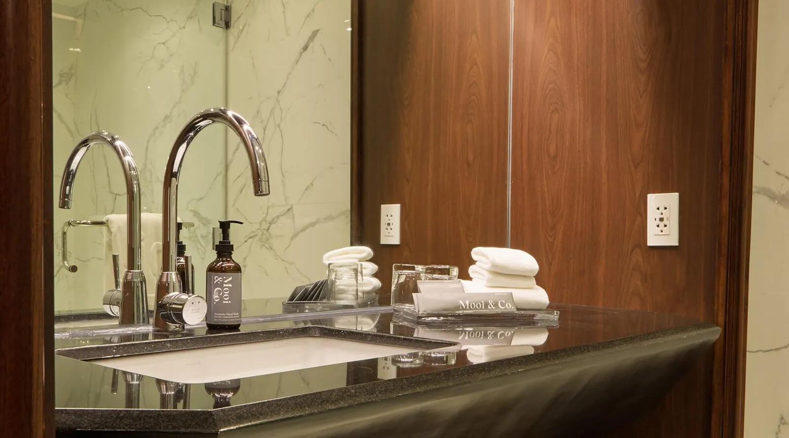 Private bathroom in Malaga Studio in Picasso hotel