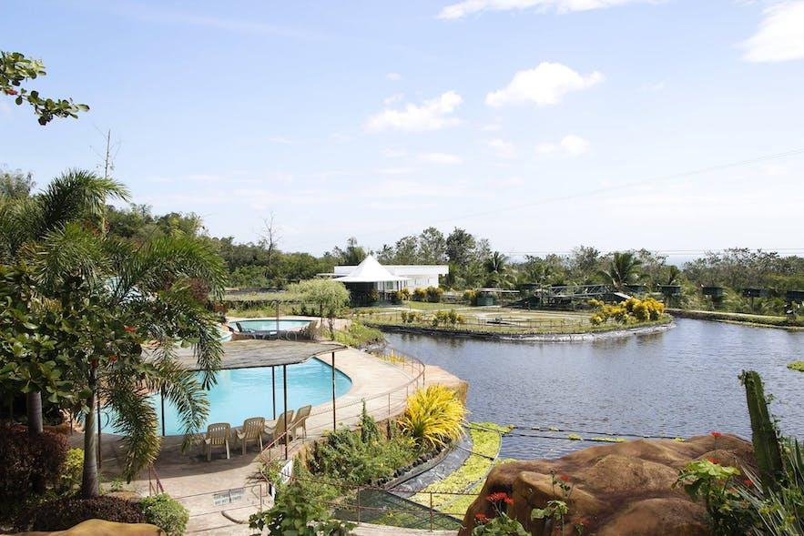 Lakeside pool in GarinFarm Pilgrimage Resort