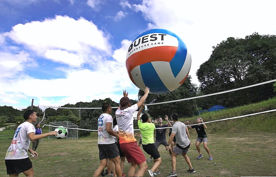 Giant volleyball in Quest Adventure Camp