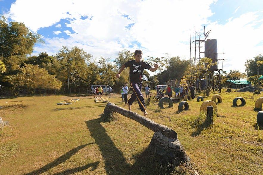 San Rafael River Adventure's obstacle course