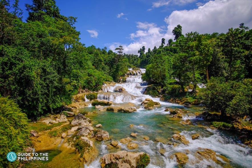 View of Aliwagwag Falls in Mindanao