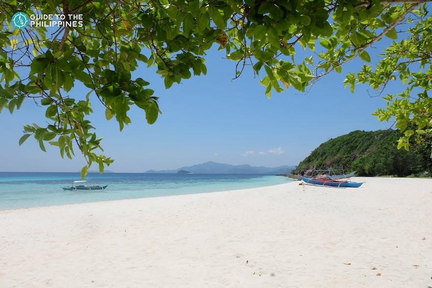 White sand beach on Samal Island