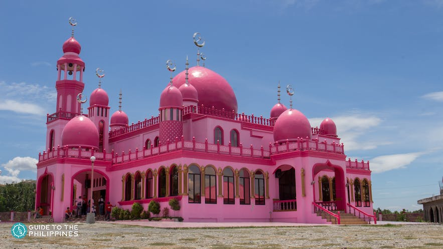Exterior of Maguindanao's pink mosque