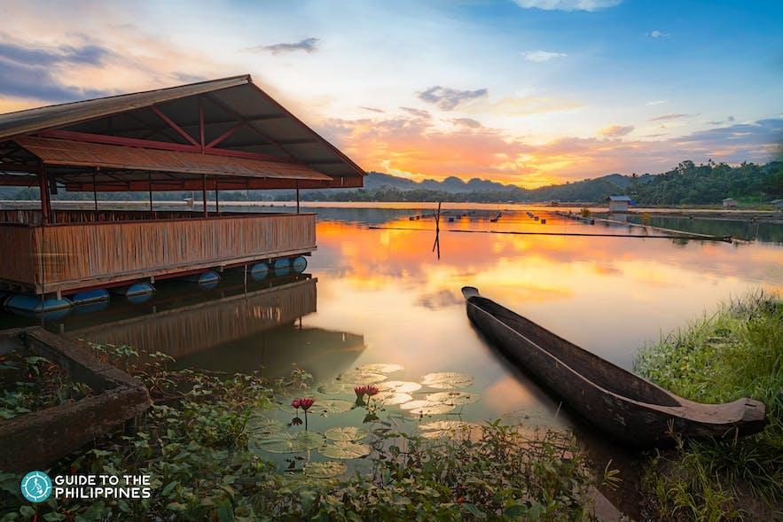 A boat in Lake Sebu