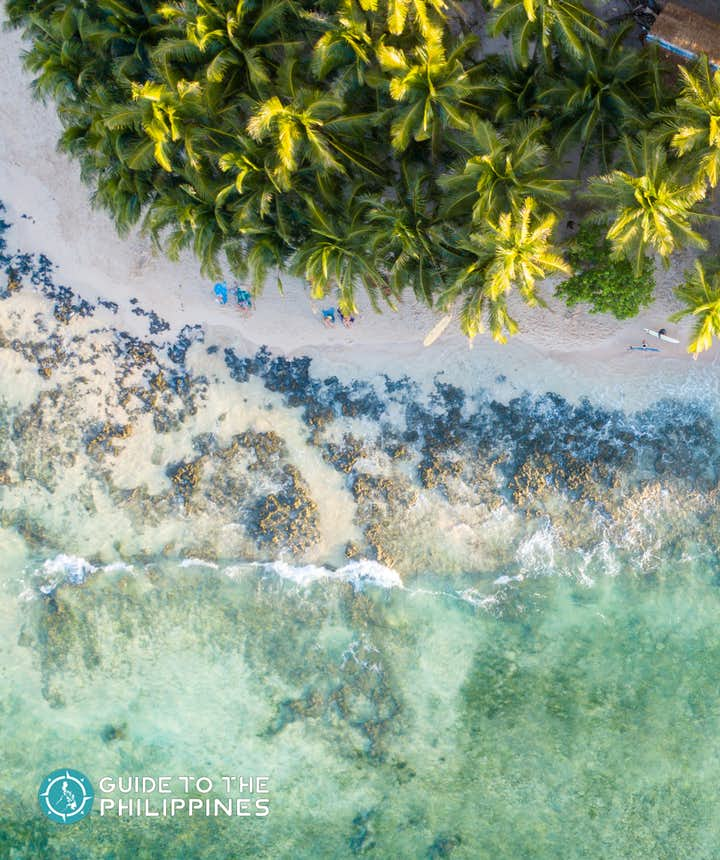 Aerial view of Siargao Island