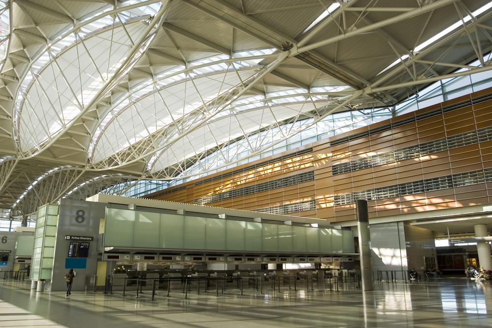 Inside San Francisco Airport in California