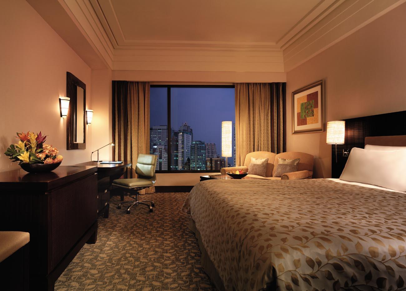 View of your quarantine room at EDSA Shangri-la Hotel