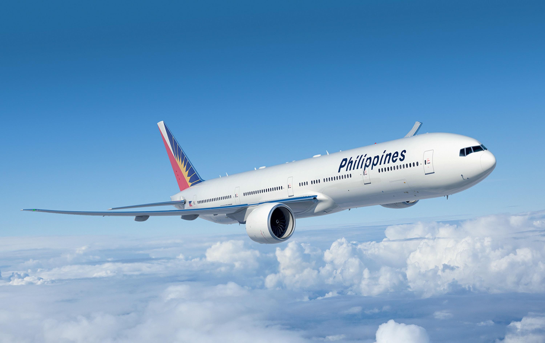 PAL flight going to Manila Airport