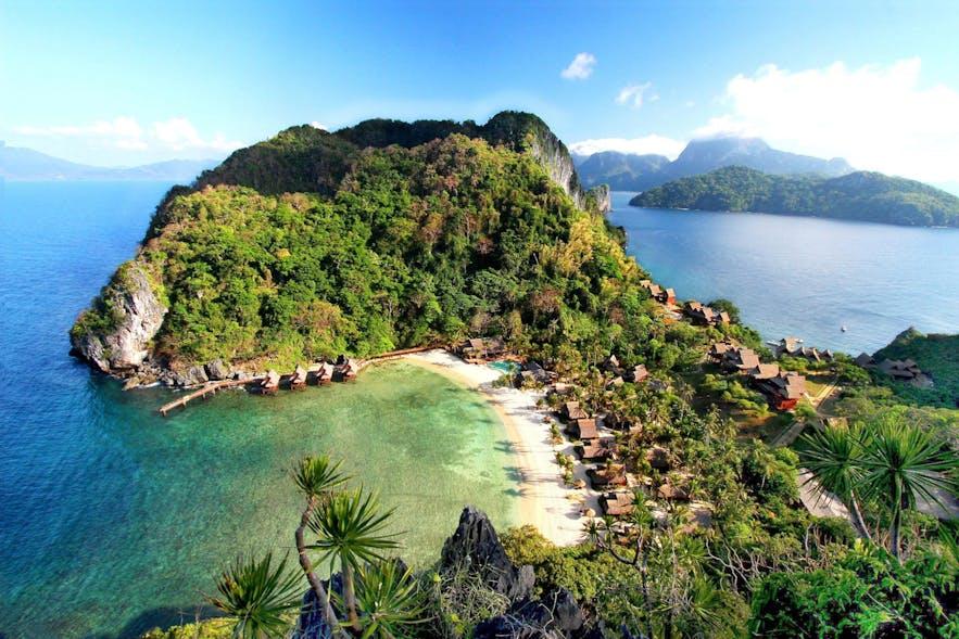 Aerial view of Cauayan Island Resort & Spa