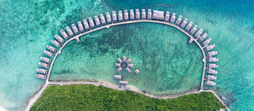 Aerial view of Huma Island Resort & Spa