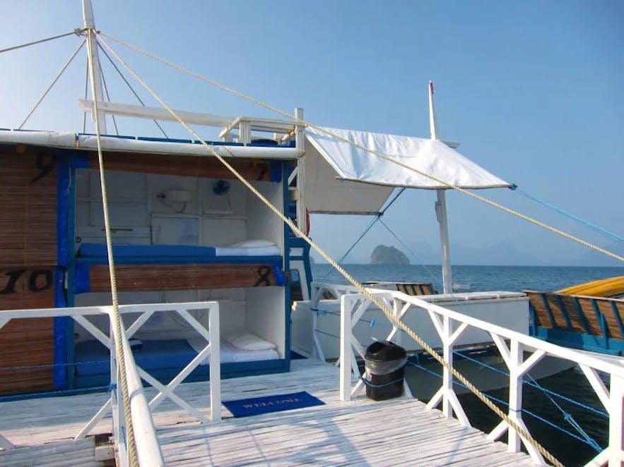 Accommodations on Palawan Secret Cruise Floating Hotel