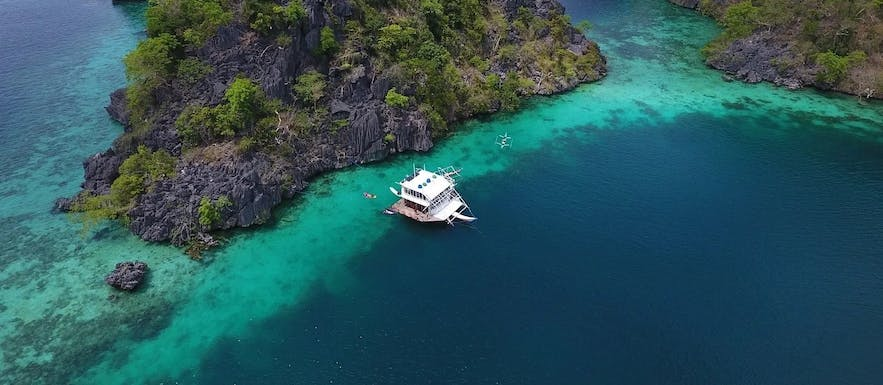 Aerial view of the Paolyn Houseboat